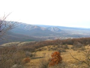 Вид с горы Челбаш.